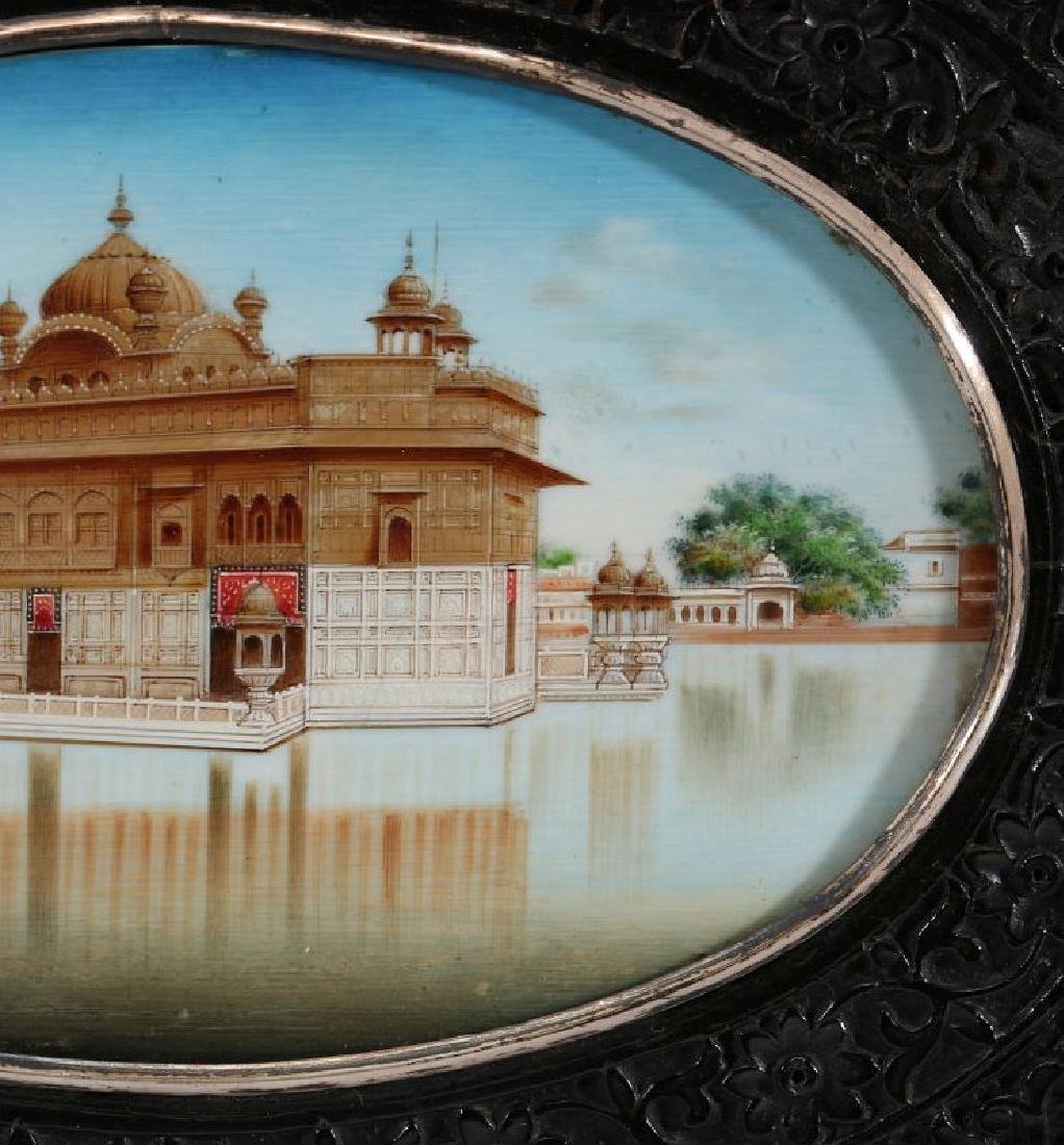 A GOUACHE MINIATURE OF GOLDEN TEMPLE AT AMRITSAR - 10