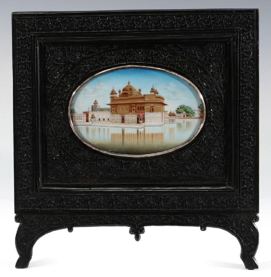 A GOUACHE MINIATURE OF GOLDEN TEMPLE AT AMRITSAR - 2