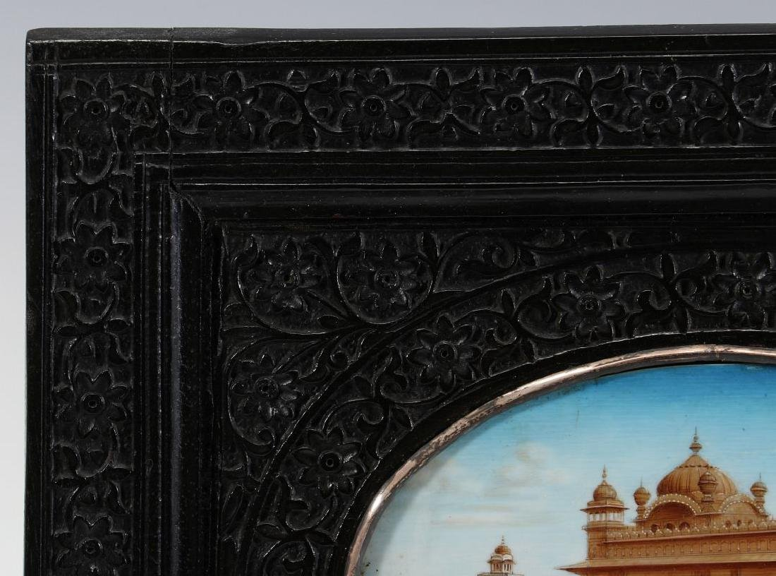 A GOUACHE MINIATURE OF GOLDEN TEMPLE AT AMRITSAR - 3