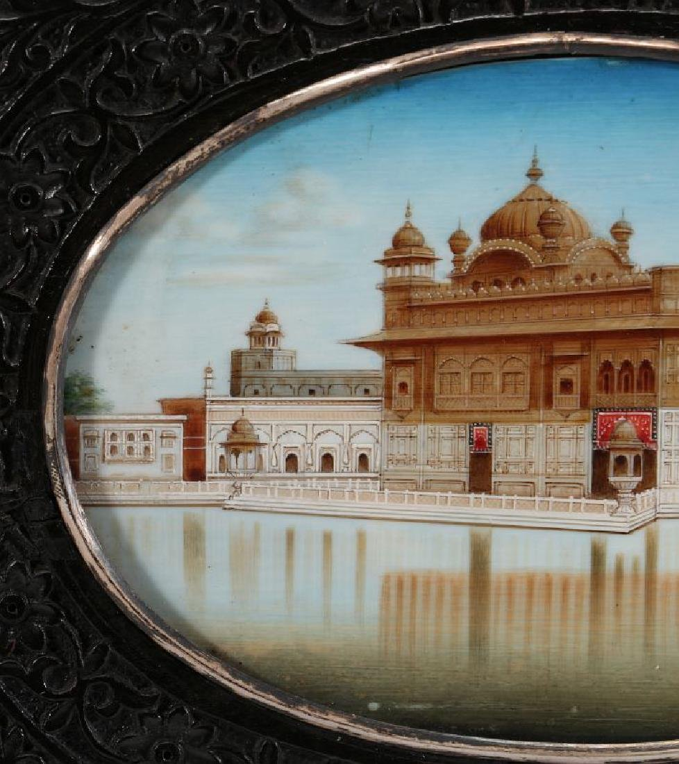 A GOUACHE MINIATURE OF GOLDEN TEMPLE AT AMRITSAR - 9