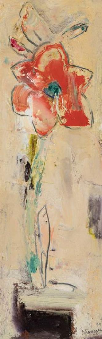 STERLING STRAUSER (1907-1995) OIL ON BOARD