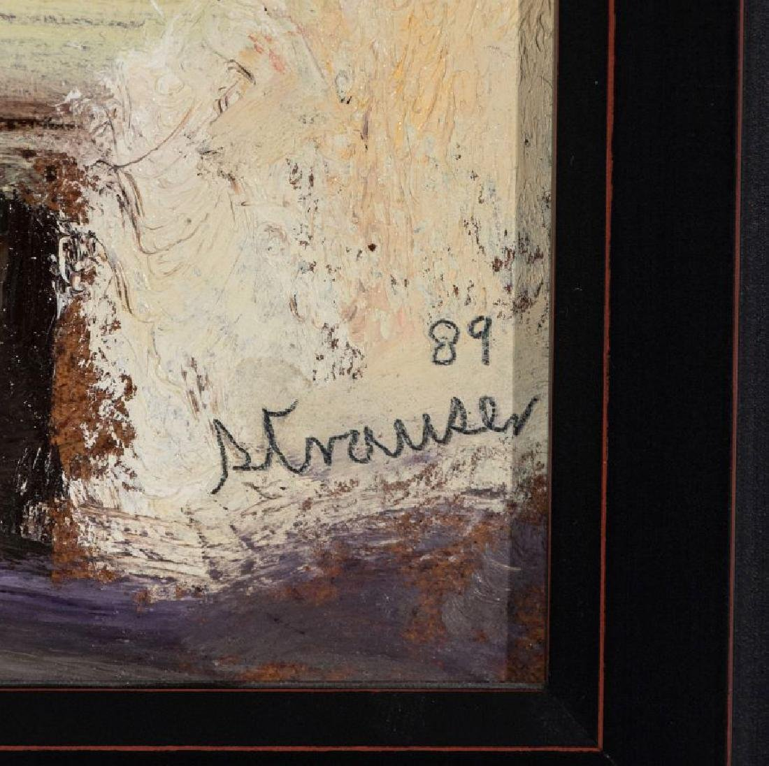 STERLING STRAUSER (1907-1995) OIL ON BOARD - 8