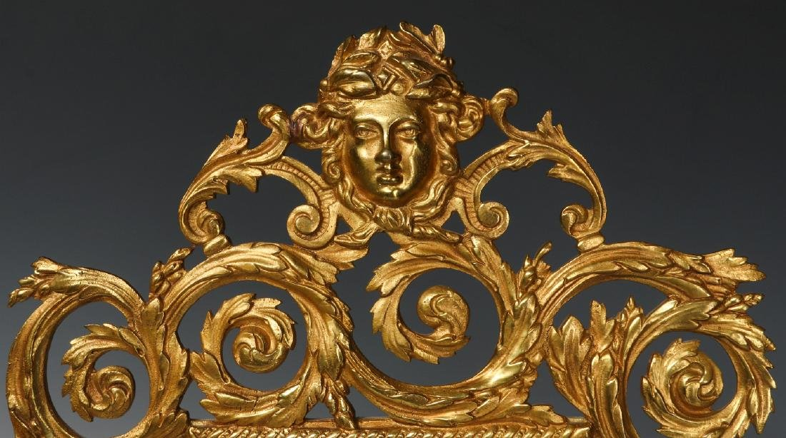 A PAIR FINE 19TH CENT GILDED BRONZE ROCOCO SCONCES - 2