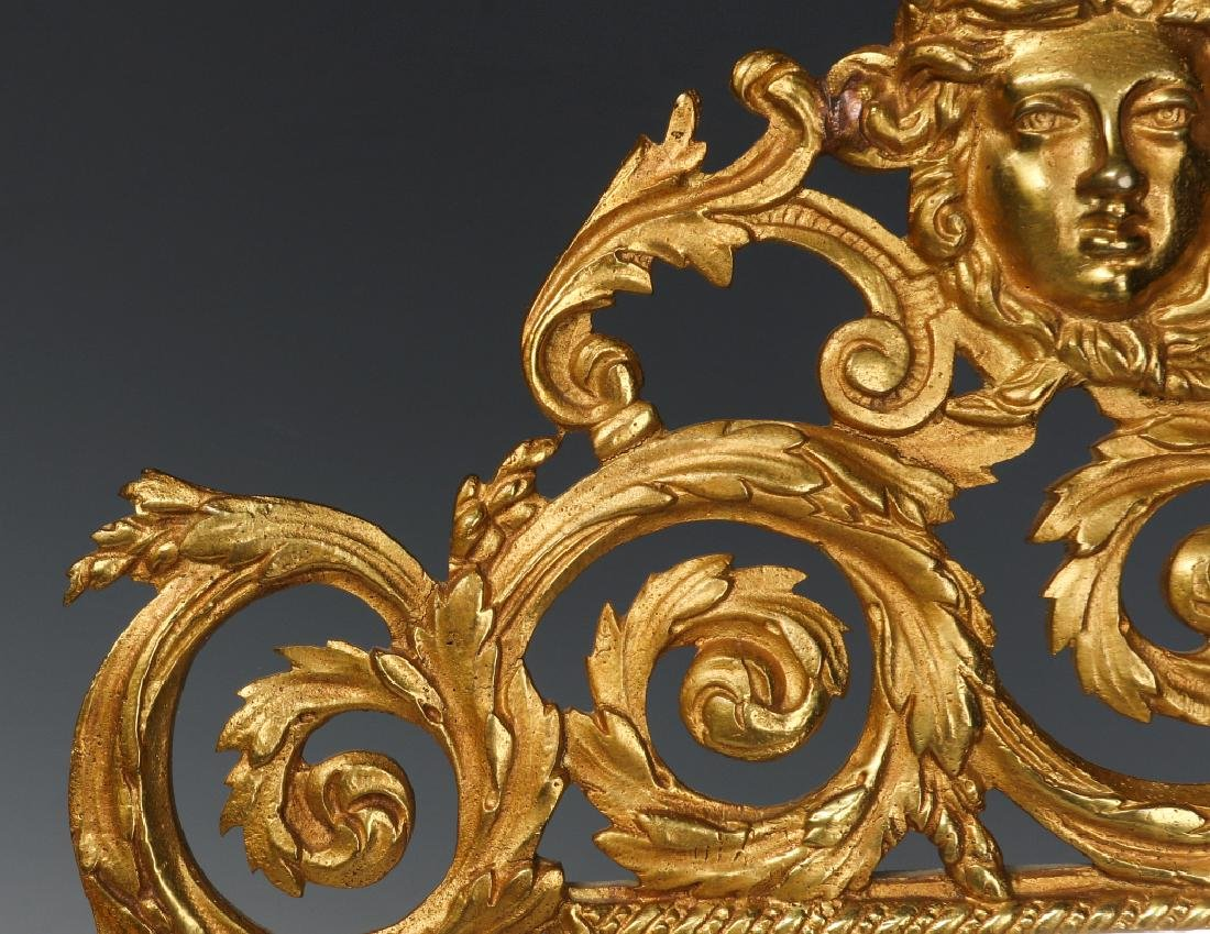 A PAIR FINE 19TH CENT GILDED BRONZE ROCOCO SCONCES - 5