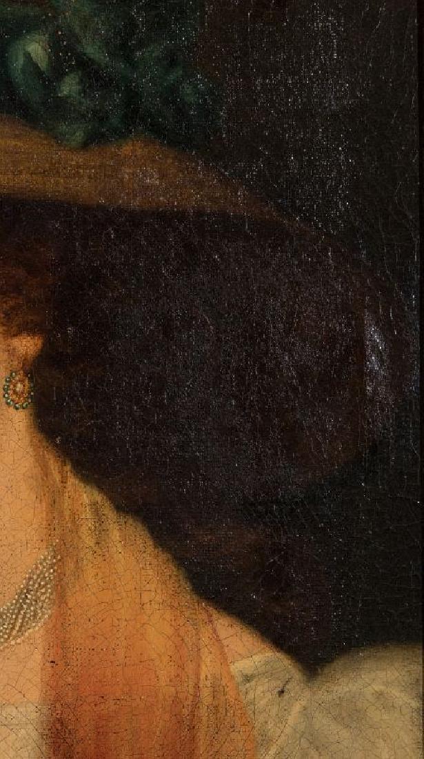 A 19TH CENTURY PORTRAIT OF A WOMAN - 10