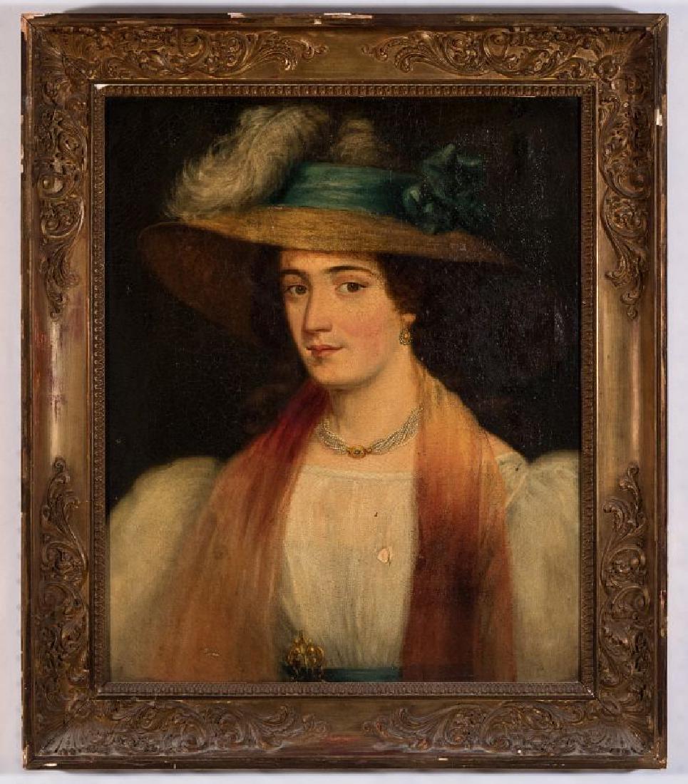 A 19TH CENTURY PORTRAIT OF A WOMAN - 2
