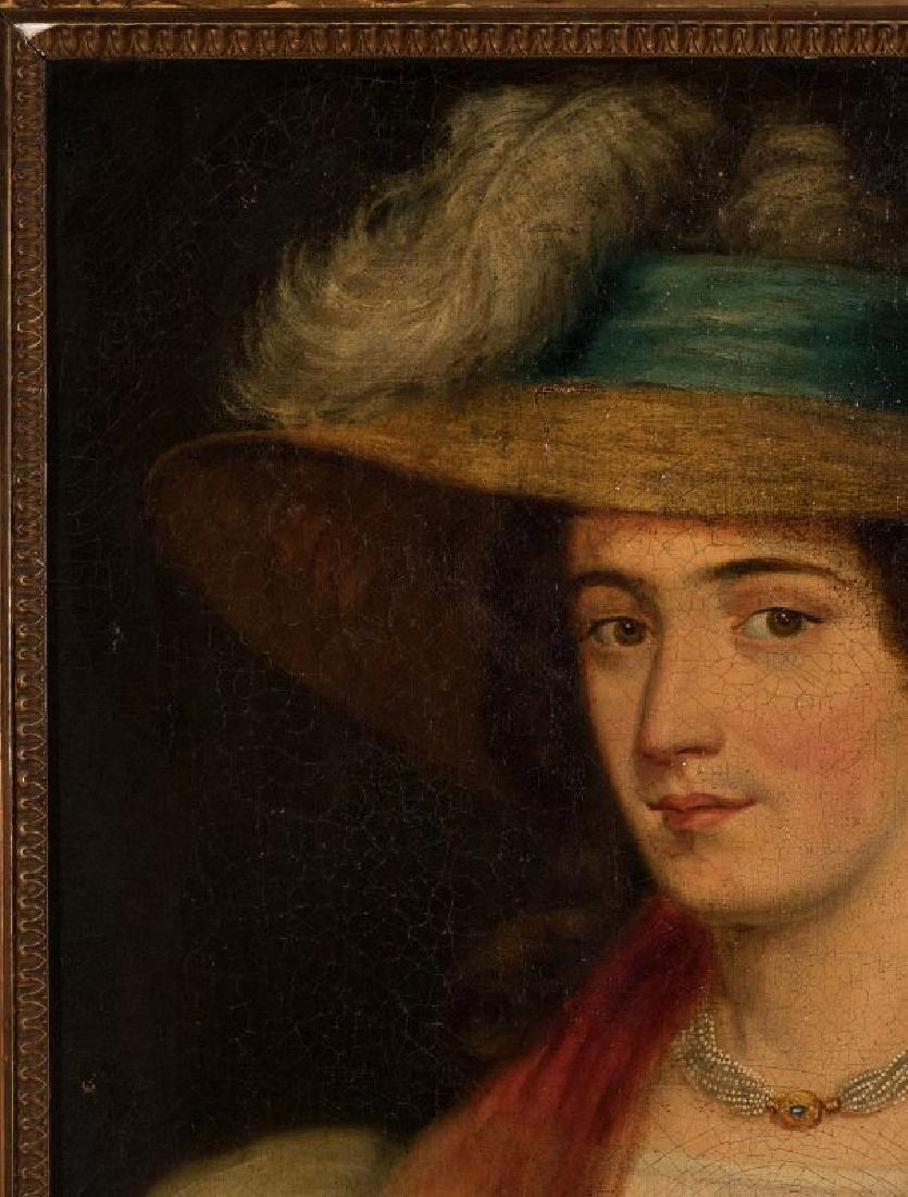 A 19TH CENTURY PORTRAIT OF A WOMAN - 3