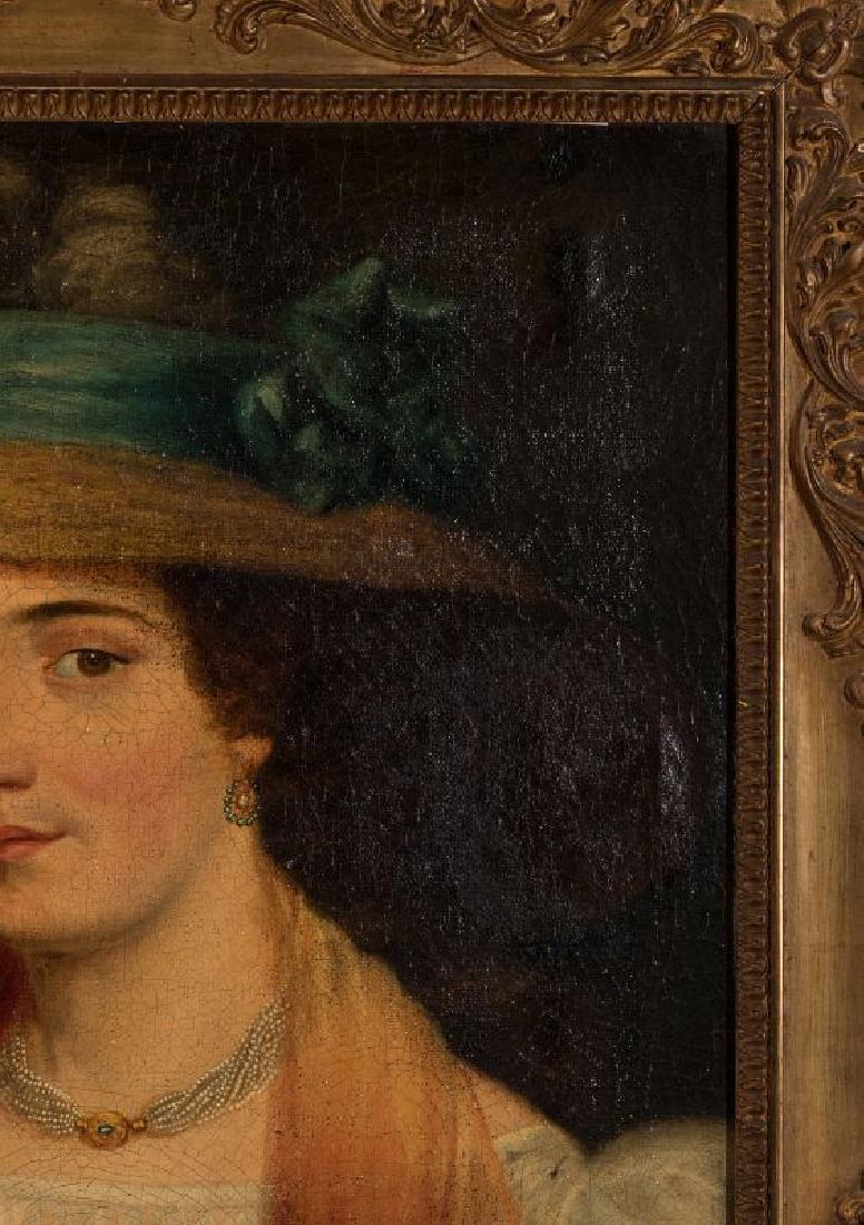 A 19TH CENTURY PORTRAIT OF A WOMAN - 4