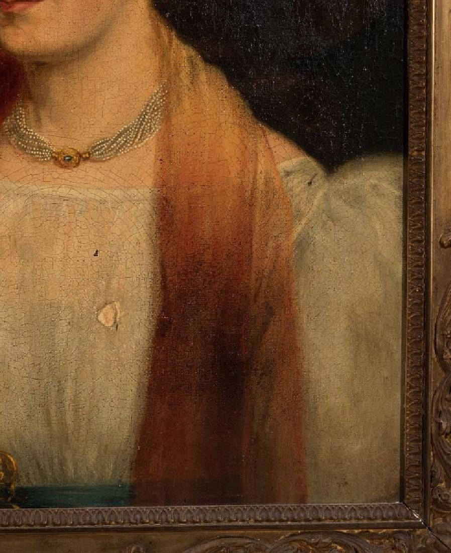A 19TH CENTURY PORTRAIT OF A WOMAN - 5