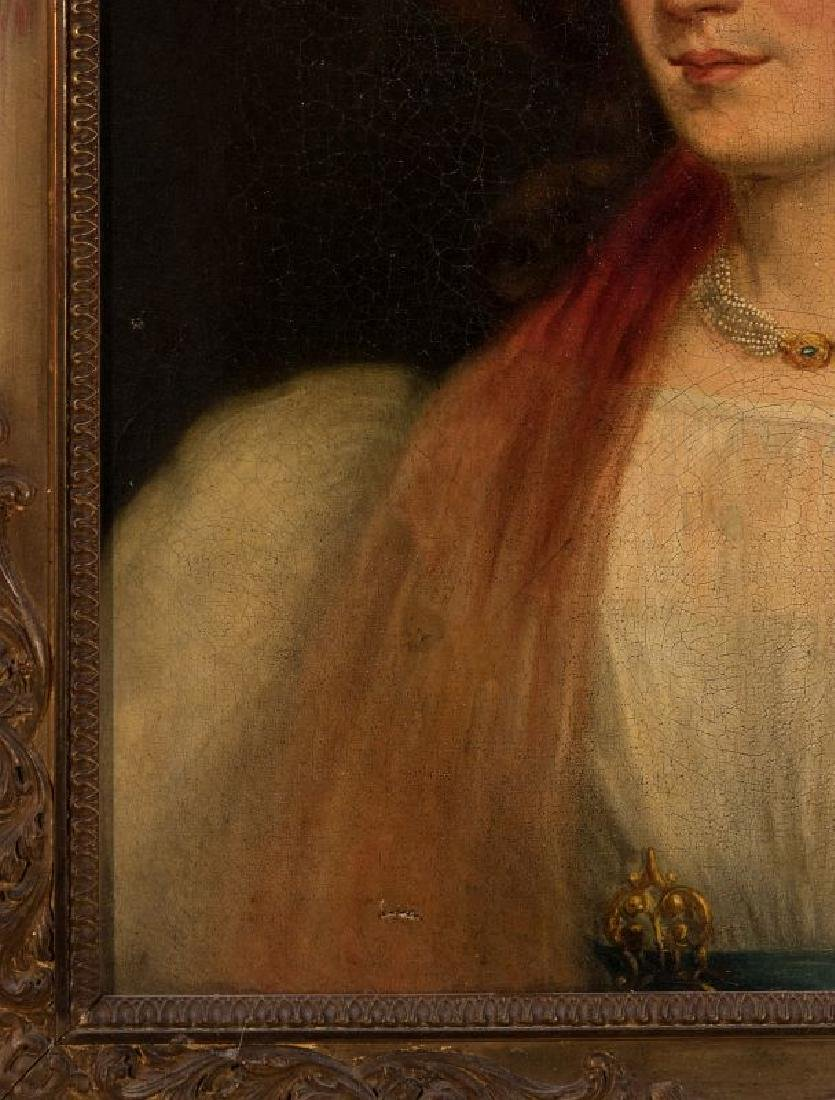 A 19TH CENTURY PORTRAIT OF A WOMAN - 6