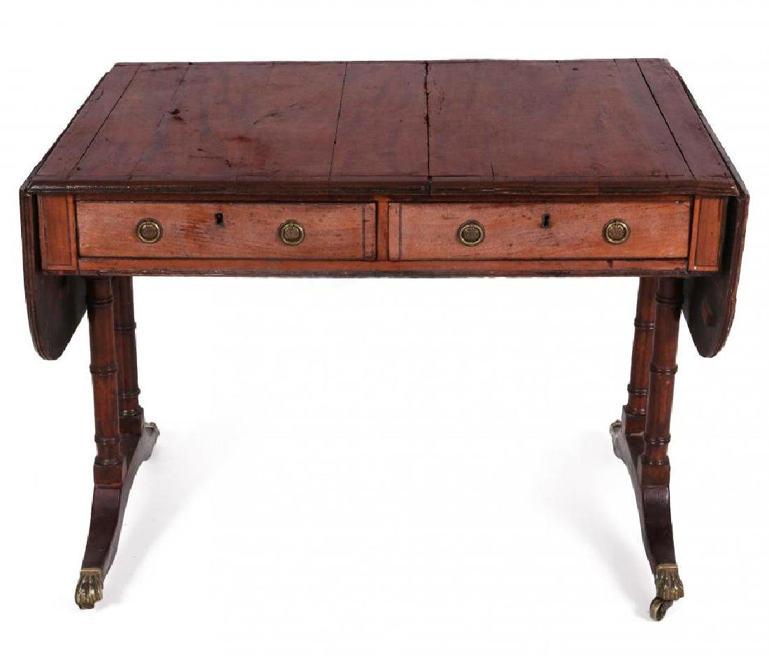 AN 18TH C. DUNCAN PHYFE STYLE DROP LEAF SIDE TABLE - 10