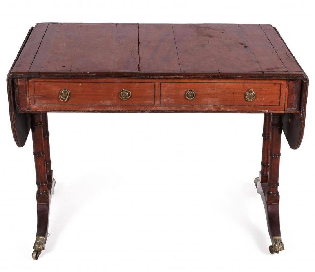AN 18TH C. DUNCAN PHYFE STYLE DROP LEAF SIDE TABLE