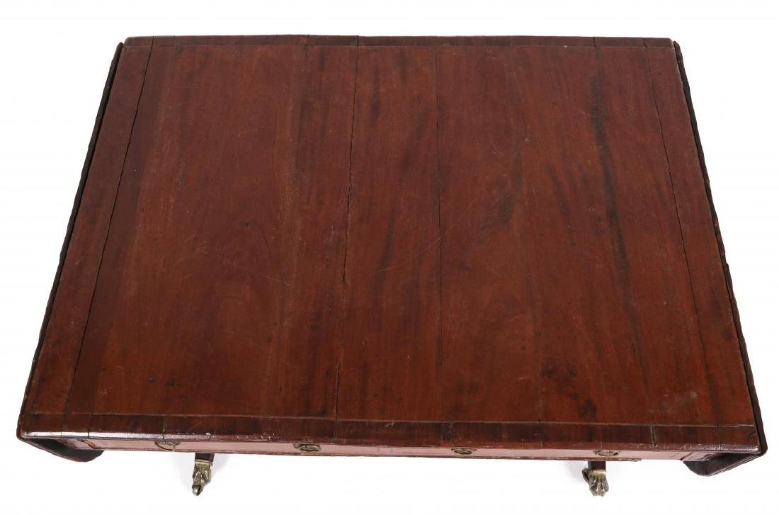 AN 18TH C. DUNCAN PHYFE STYLE DROP LEAF SIDE TABLE - 2