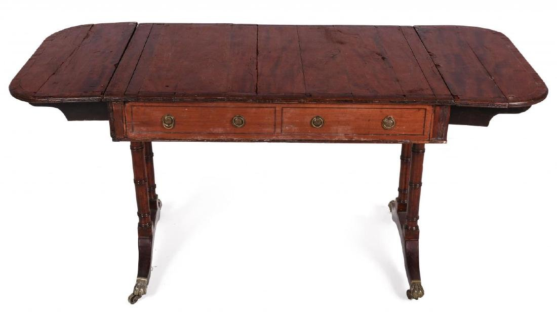AN 18TH C. DUNCAN PHYFE STYLE DROP LEAF SIDE TABLE - 6