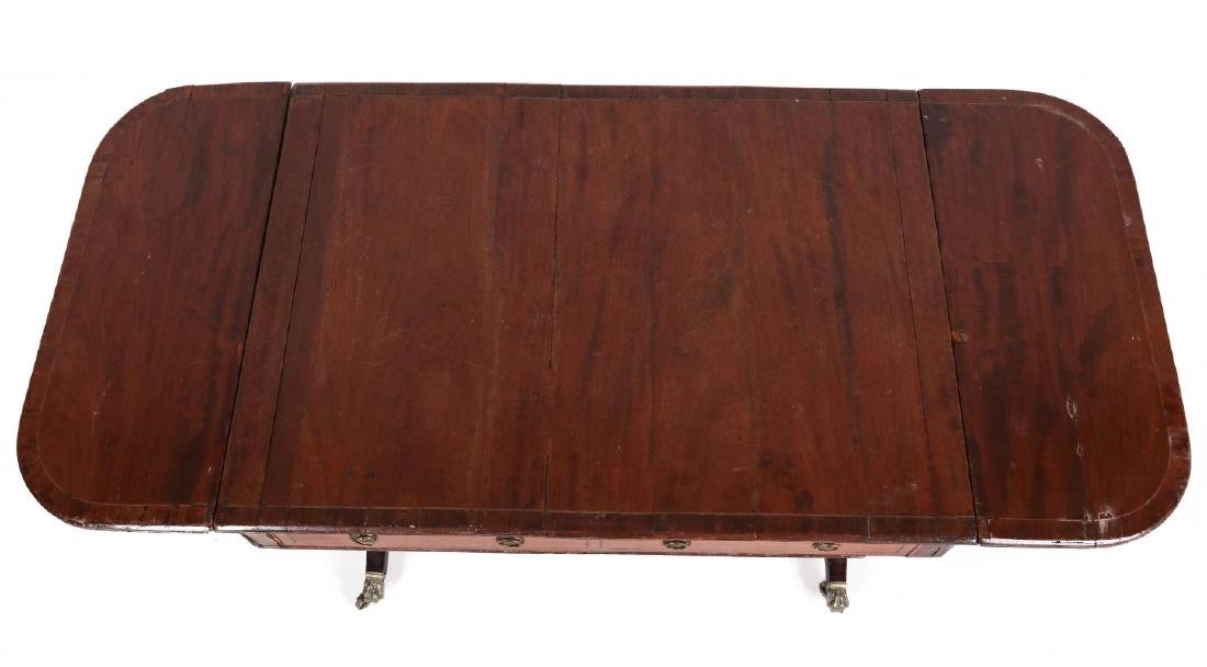 AN 18TH C. DUNCAN PHYFE STYLE DROP LEAF SIDE TABLE - 7