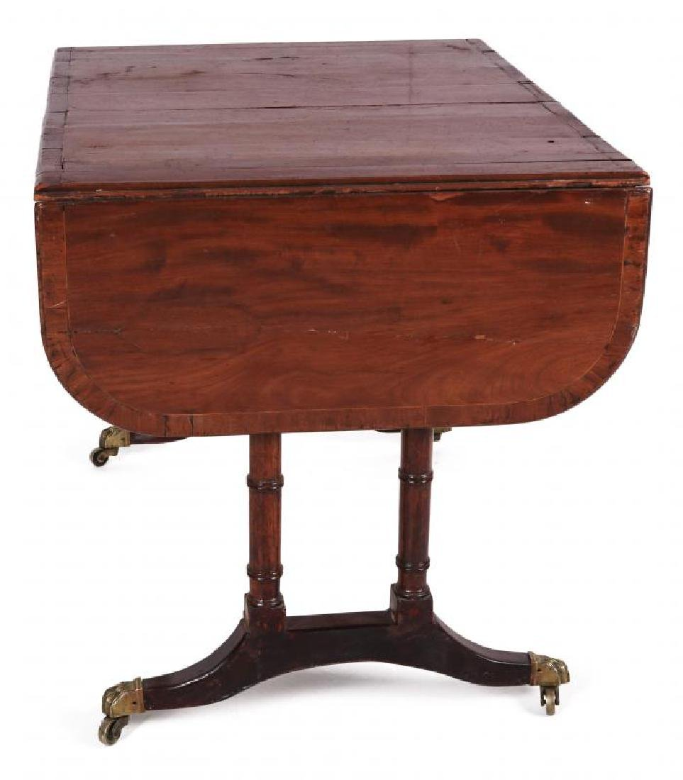AN 18TH C. DUNCAN PHYFE STYLE DROP LEAF SIDE TABLE - 8