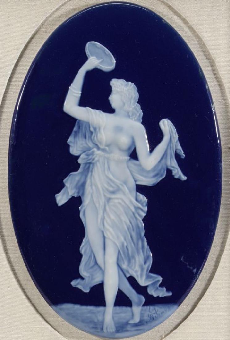 A LIMOGES PATE-SUR-PATE PORCELAIN PLAQUE C. 1900