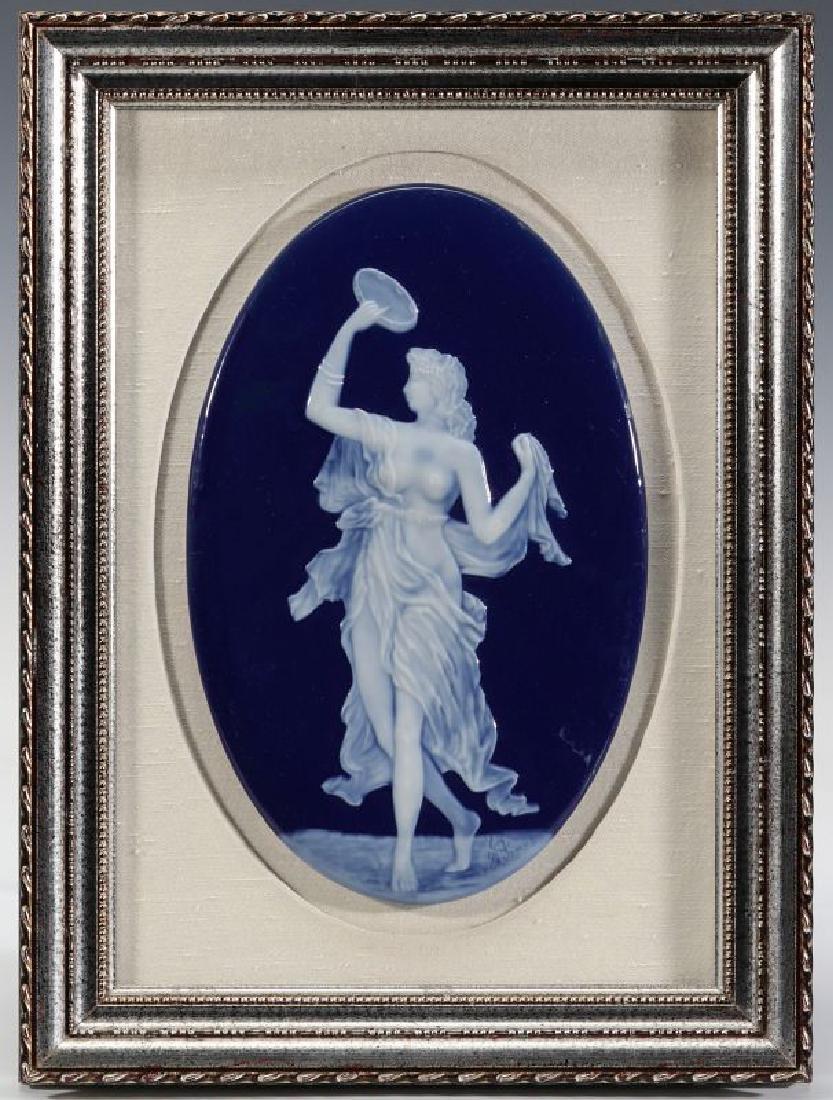 A LIMOGES PATE-SUR-PATE PORCELAIN PLAQUE C. 1900 - 2