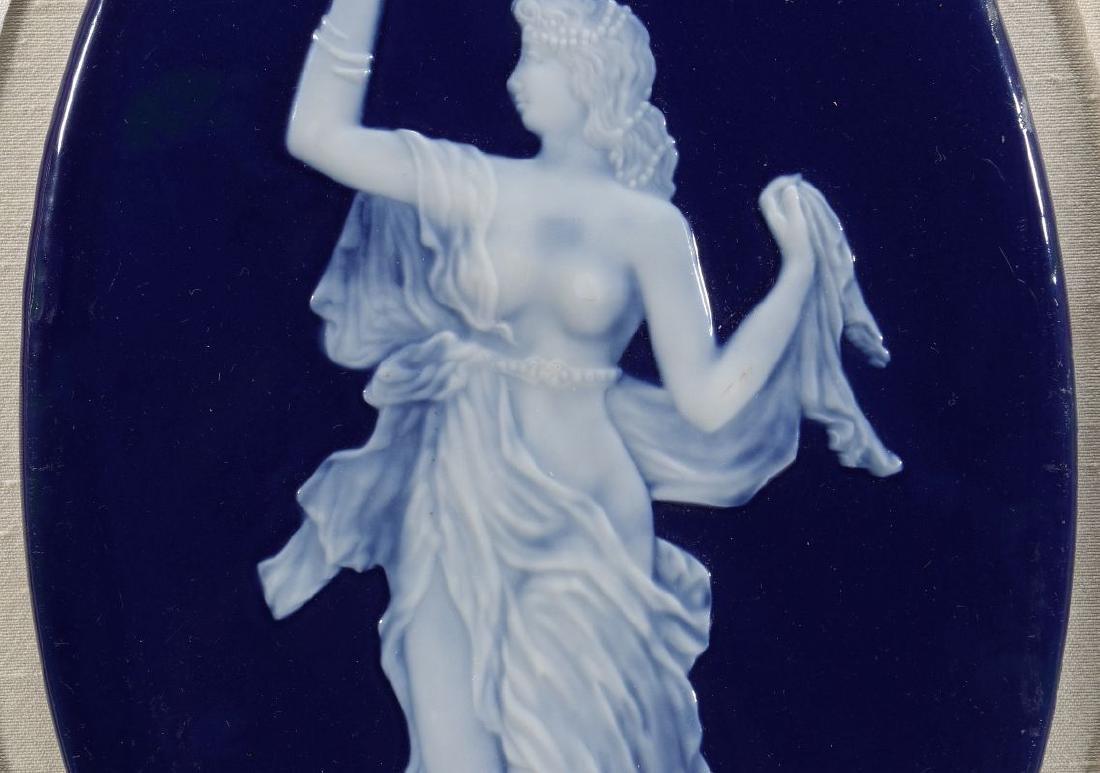 A LIMOGES PATE-SUR-PATE PORCELAIN PLAQUE C. 1900 - 4