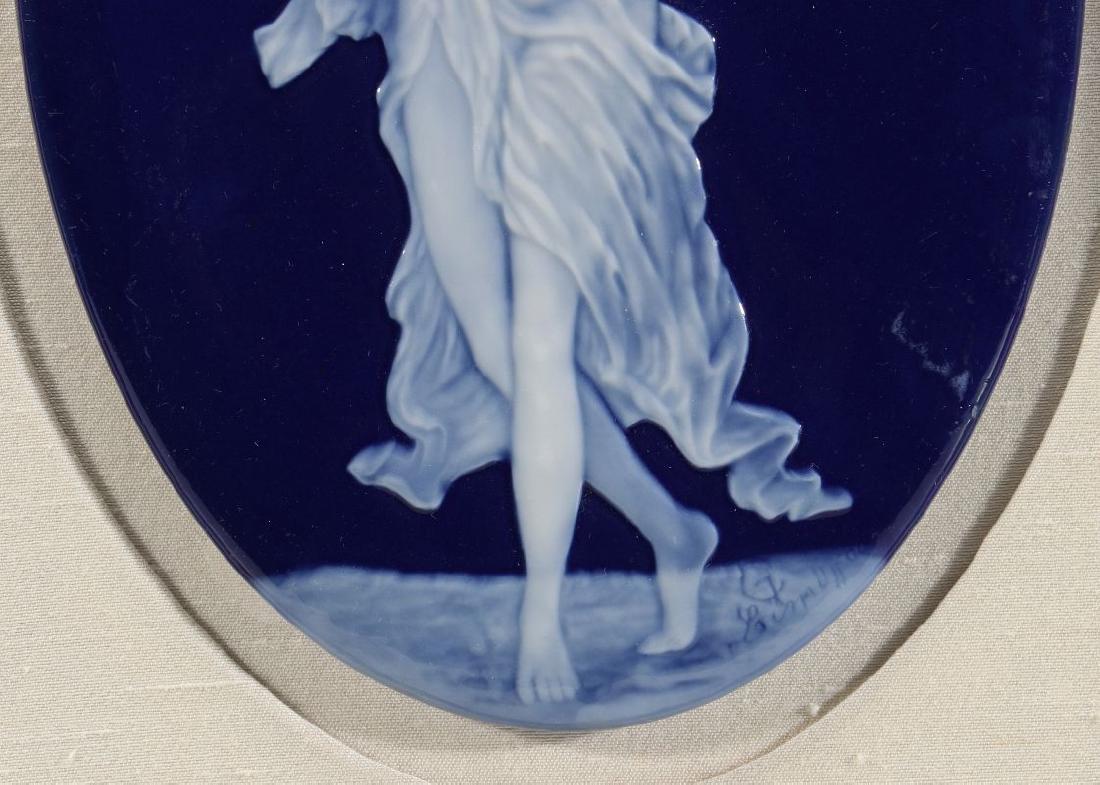 A LIMOGES PATE-SUR-PATE PORCELAIN PLAQUE C. 1900 - 5
