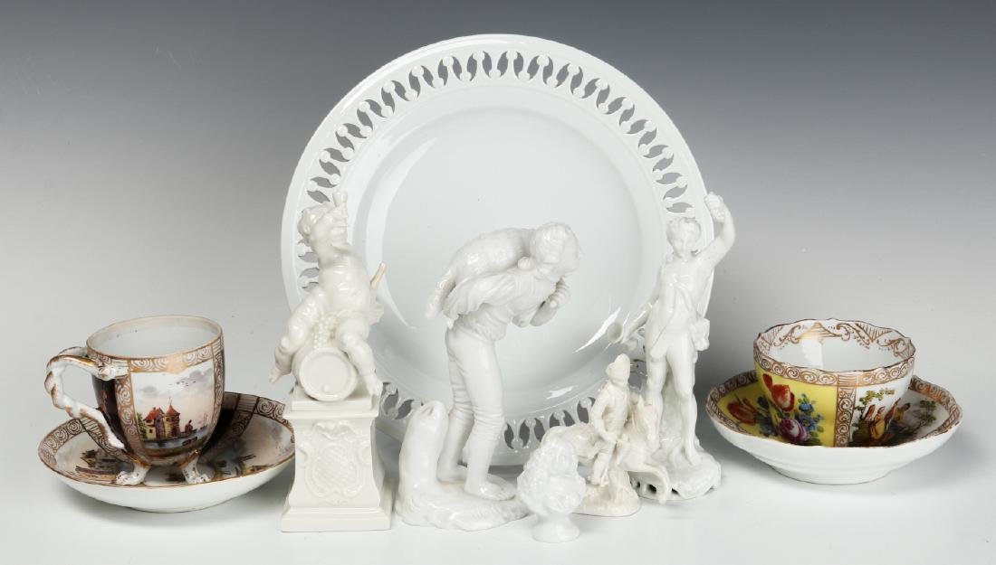 MEISSEN AND OTHER CONTINENTAL PORCELAIN ITEMS