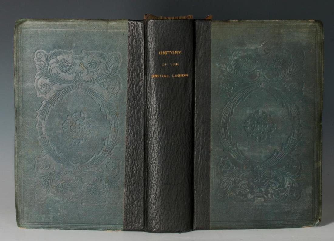 1839 HISTORY OF THE BRITISH LEGION BY SOMERVILLE