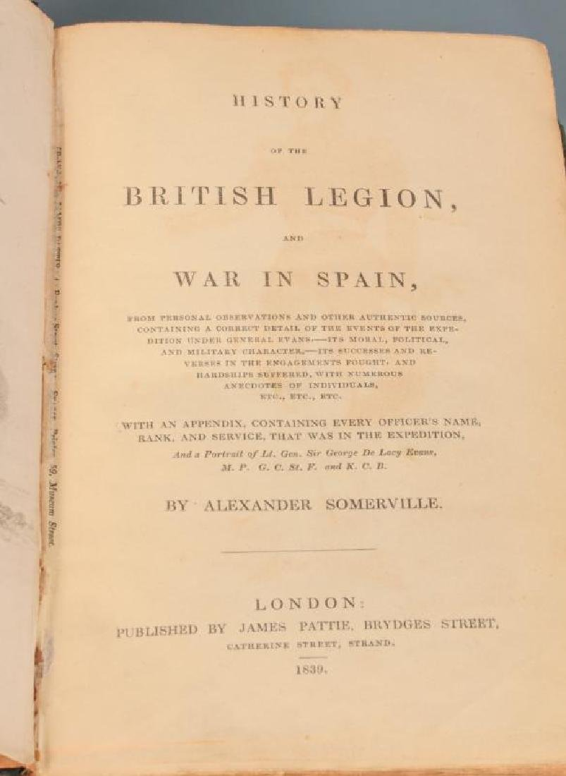 1839 HISTORY OF THE BRITISH LEGION BY SOMERVILLE - 7