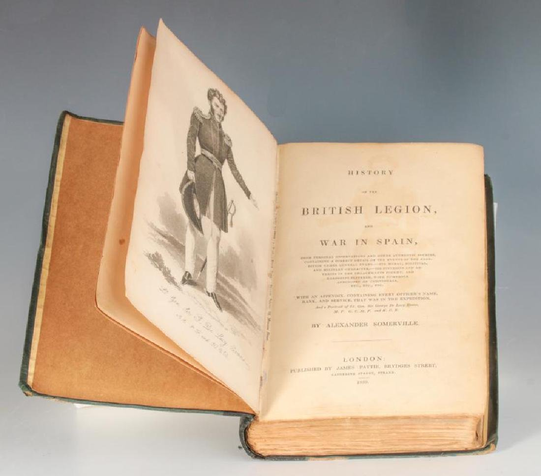1839 HISTORY OF THE BRITISH LEGION BY SOMERVILLE - 8