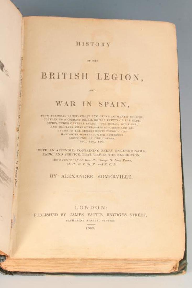 1839 HISTORY OF THE BRITISH LEGION BY SOMERVILLE - 9