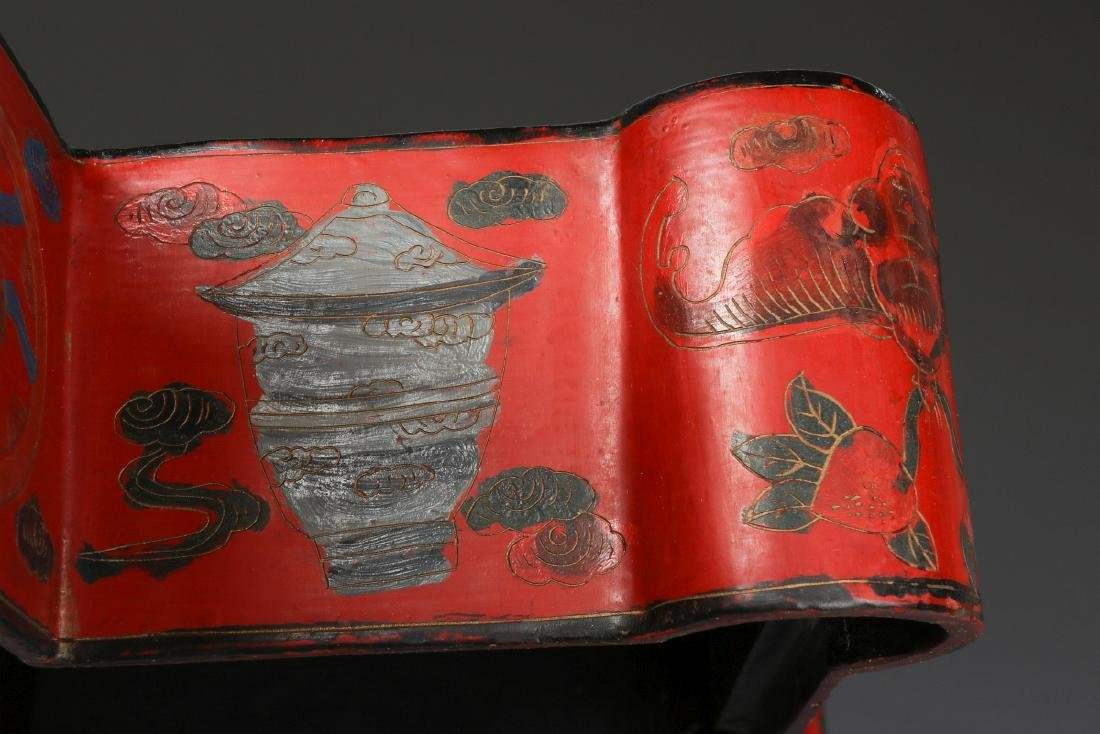 UNUSUAL CHINESE LACQUER BOX, EARLY 20TH CENTURY - 10