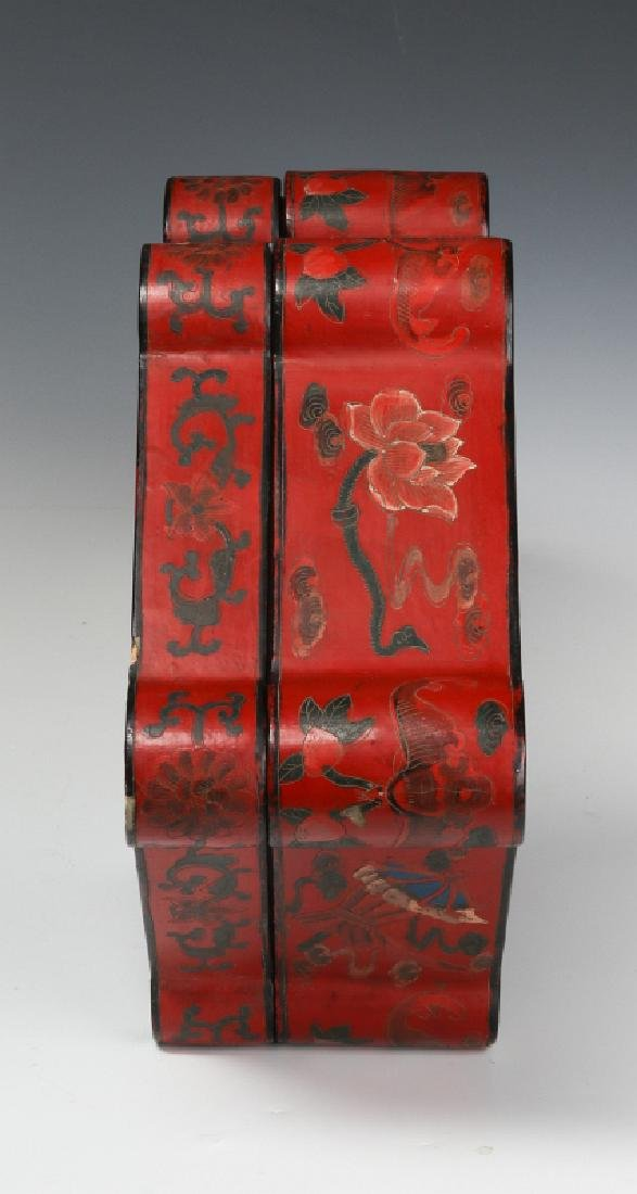 UNUSUAL CHINESE LACQUER BOX, EARLY 20TH CENTURY - 3