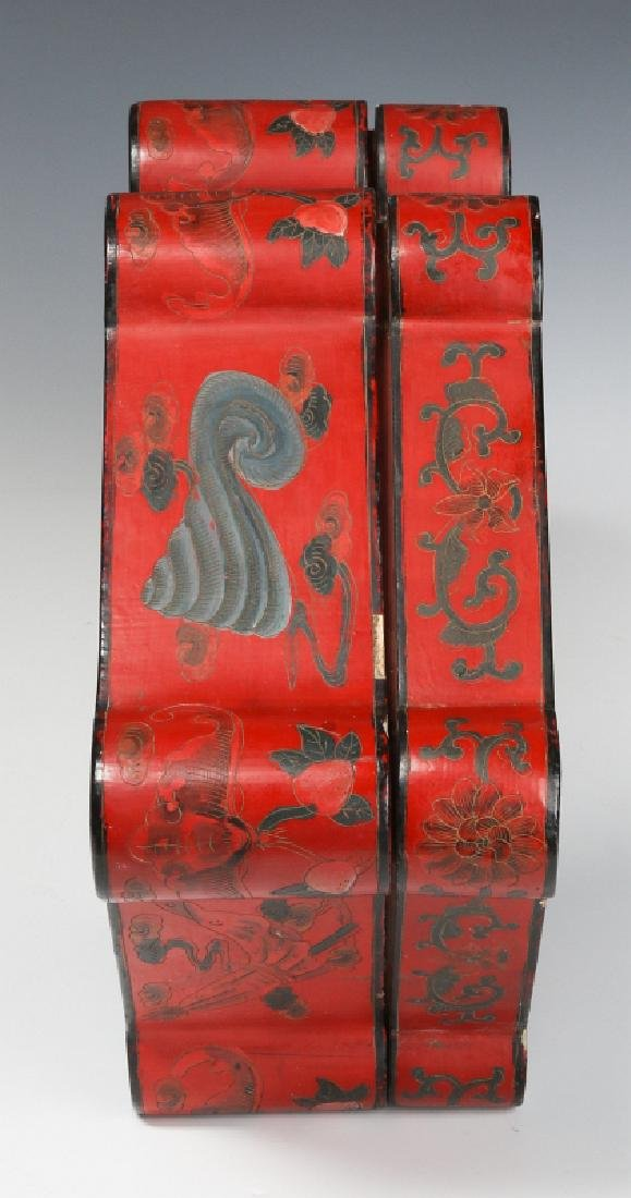 UNUSUAL CHINESE LACQUER BOX, EARLY 20TH CENTURY - 6