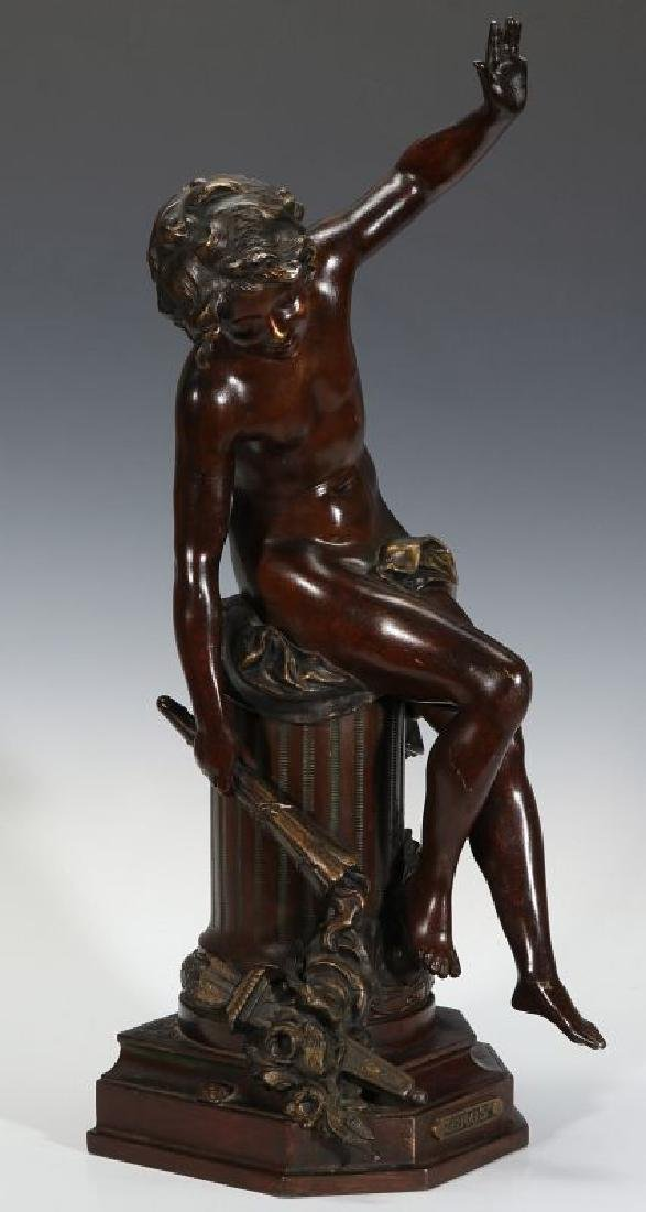 A LATE 19TH CENTURY BRONZE SCULPTURE 'EROS'