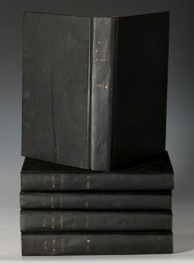 1820 ROYAL MILITARY CALENDAR IN FIVE VOLUMES