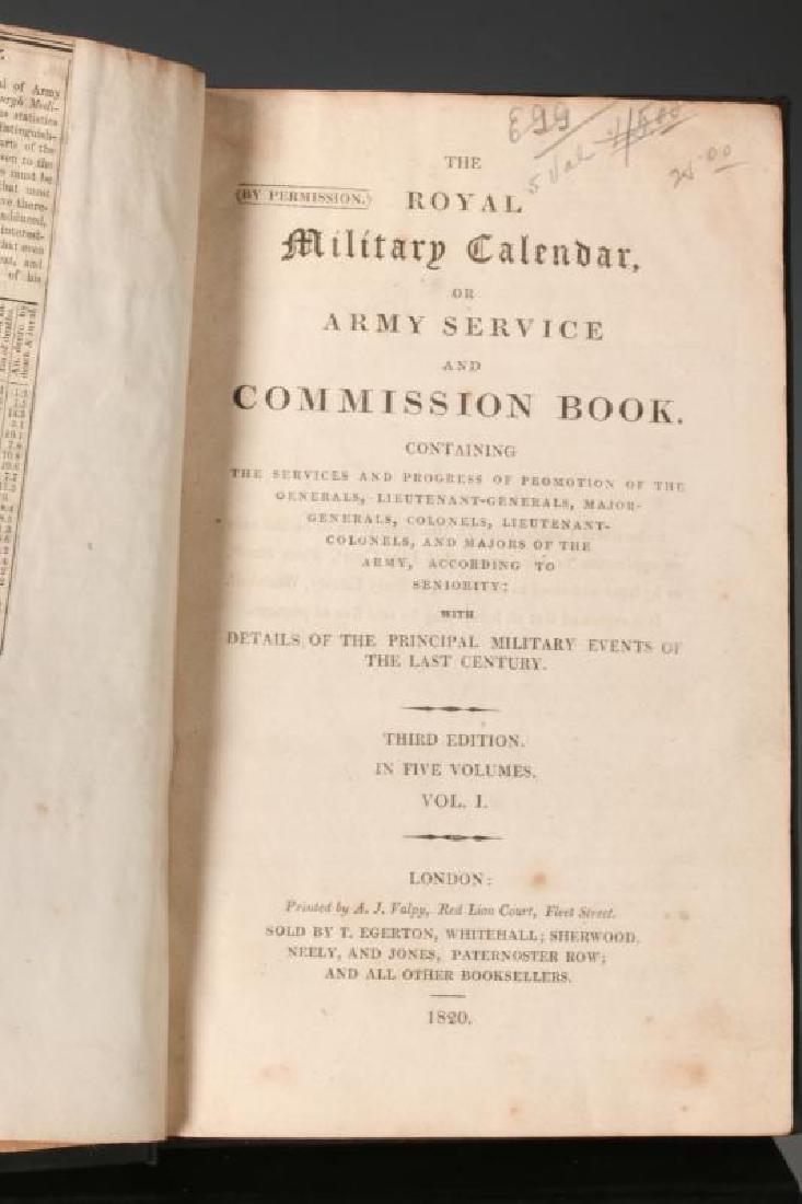 1820 ROYAL MILITARY CALENDAR IN FIVE VOLUMES - 6