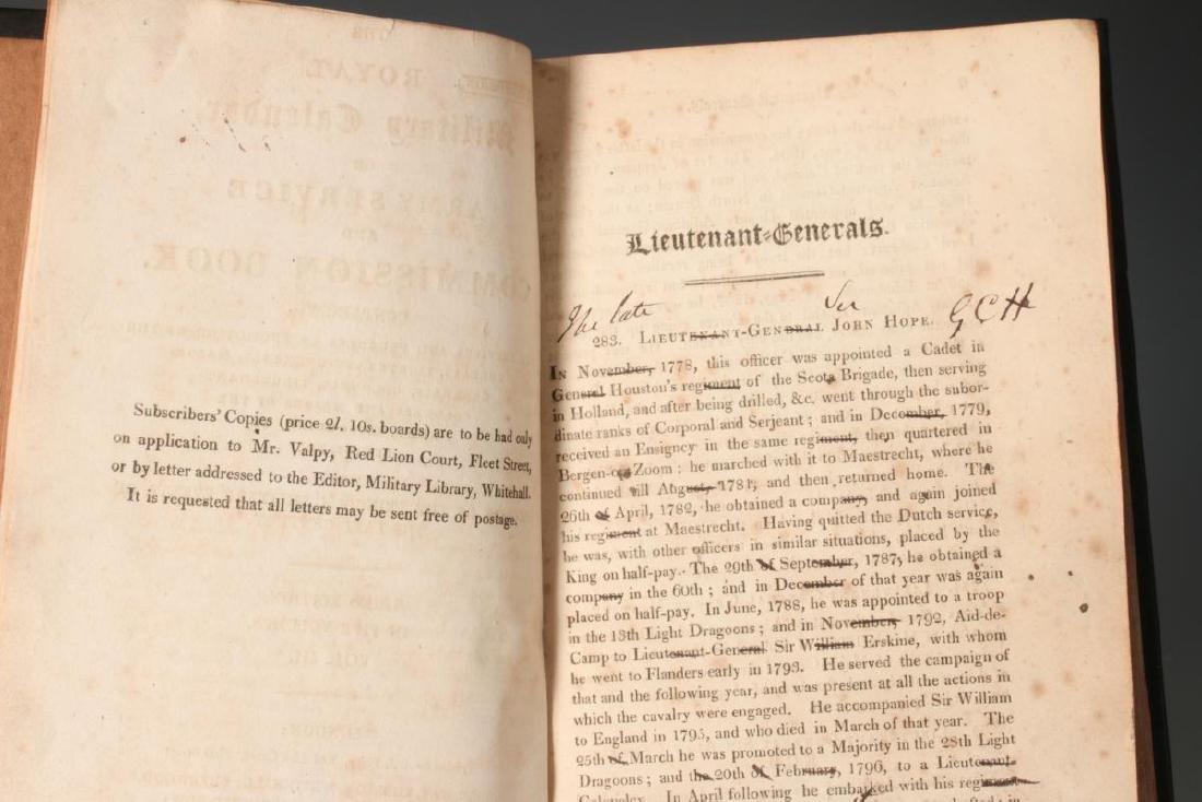 1820 ROYAL MILITARY CALENDAR IN FIVE VOLUMES - 7