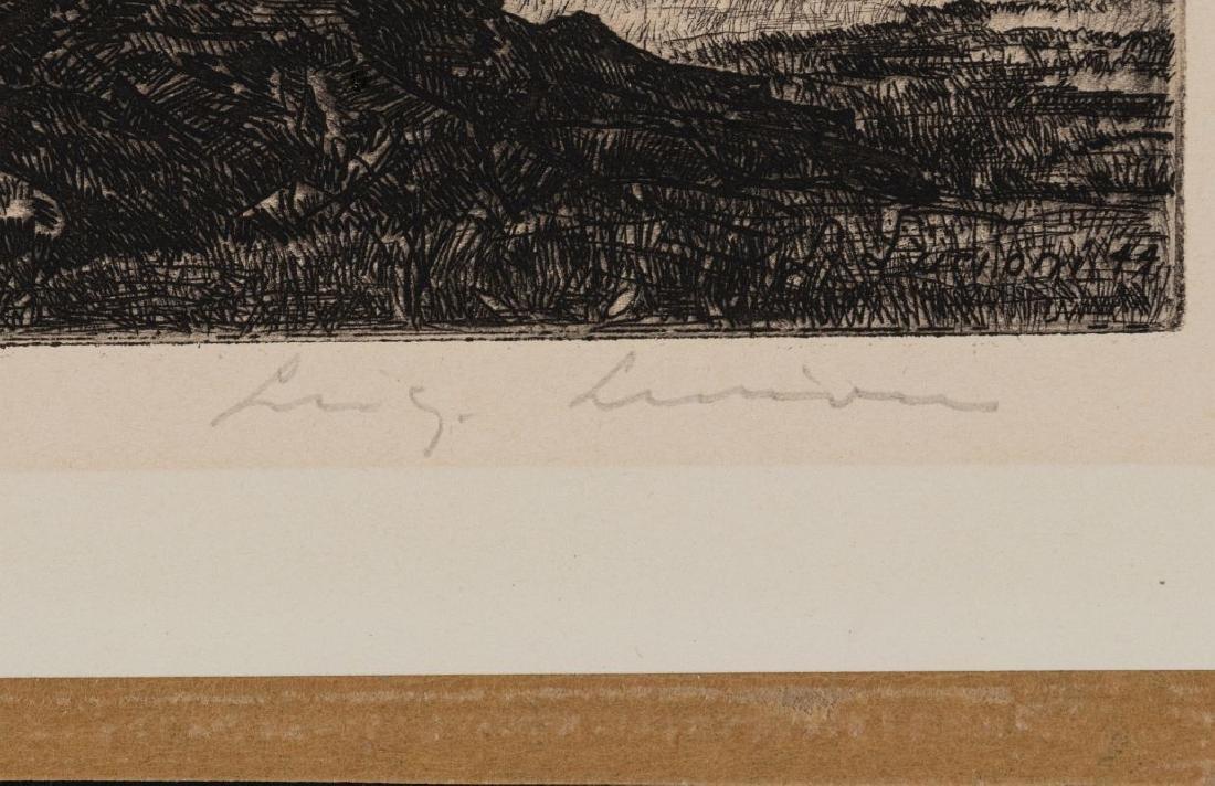 LUIGI LUCIONI (1900-1988) PENCIL SIGNED ETCHING - 9