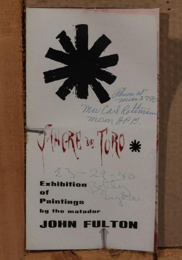 JOHN FULTON (1933-1998) SKETCH ON PAPER - 10