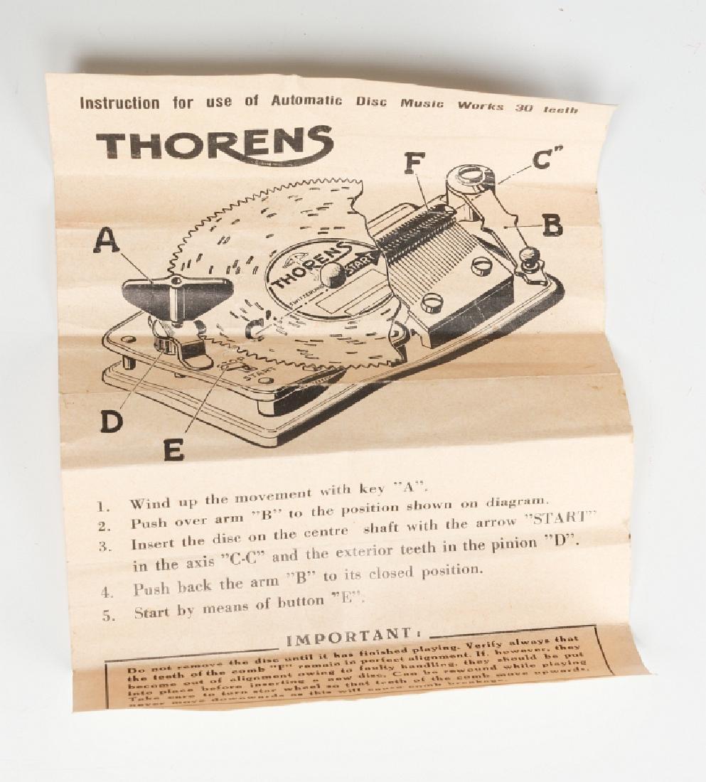 A FRED ZIMBALIST MUSIC COMPANY THORENS MUSIC BOX - 10