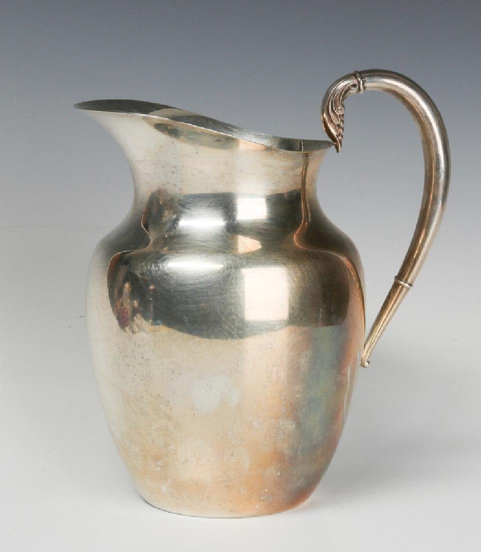 A LATE 20TH CENT AMERICAN STERLING WATER PITCHER