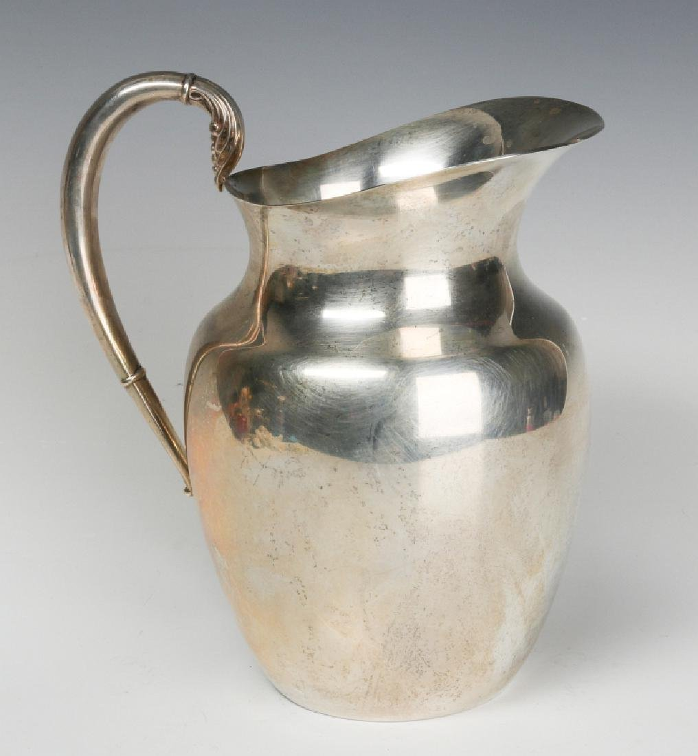 A LATE 20TH CENT AMERICAN STERLING WATER PITCHER - 3