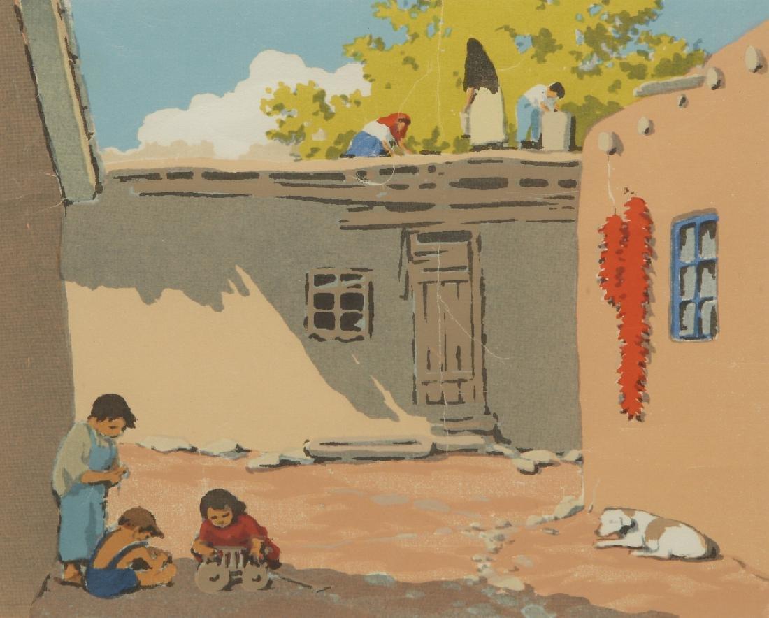 NORMA BASSETT HALL (1890–1957) SIGNED SERIGRAPH