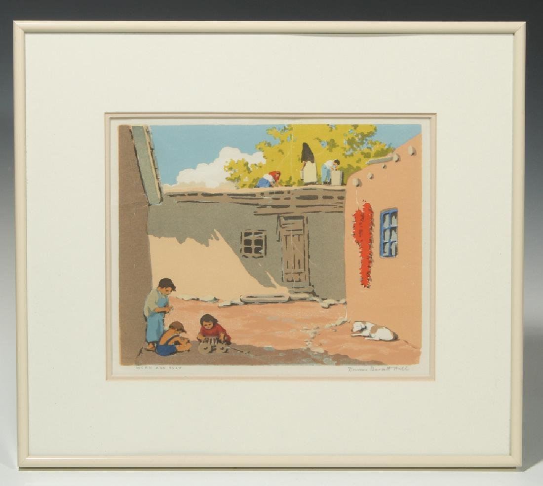 NORMA BASSETT HALL (1890–1957) SIGNED SERIGRAPH - 2