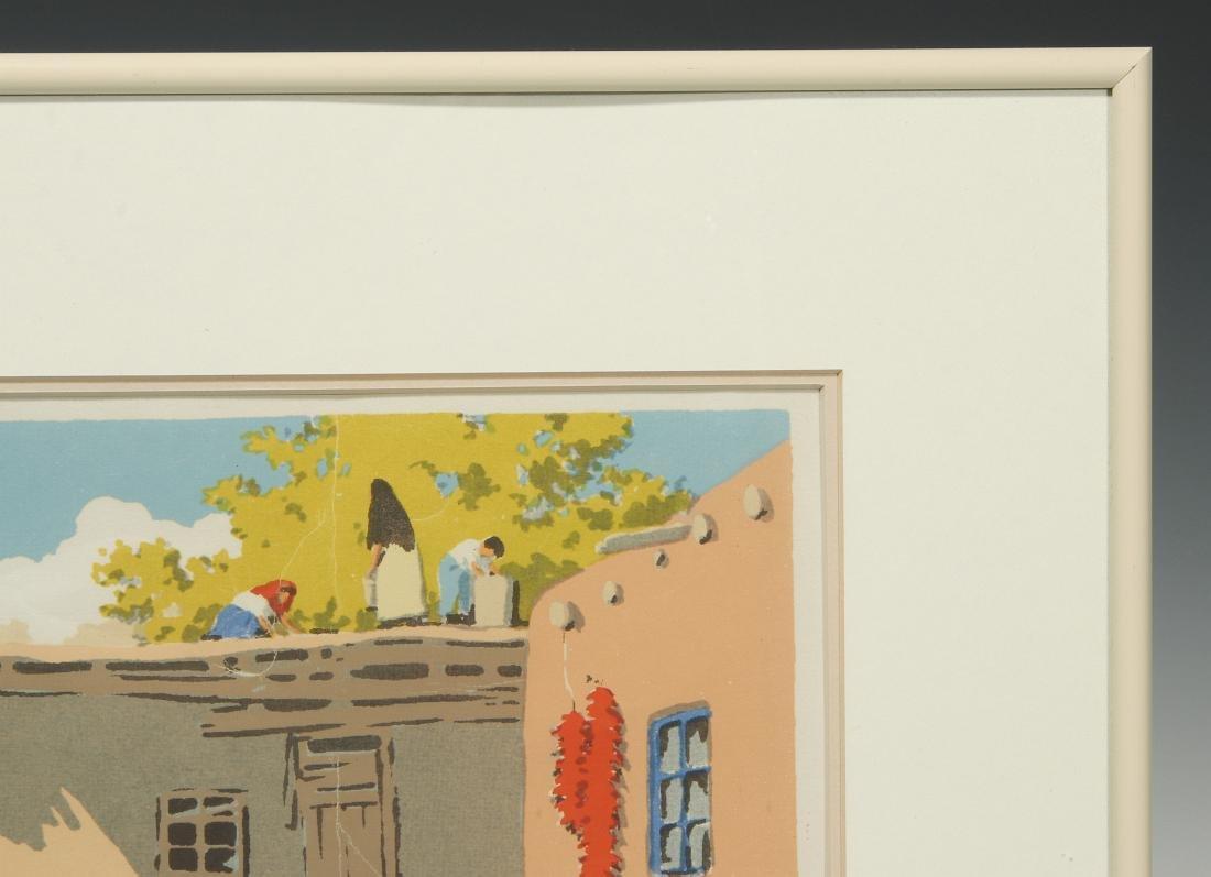 NORMA BASSETT HALL (1890–1957) SIGNED SERIGRAPH - 4