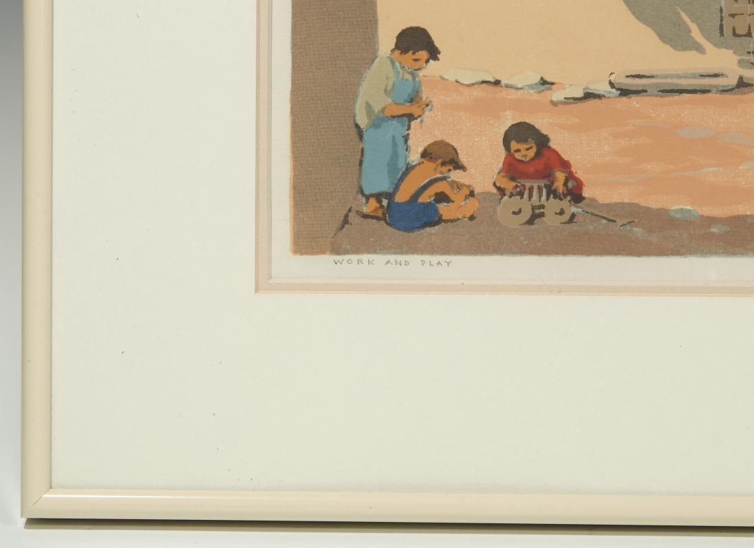NORMA BASSETT HALL (1890–1957) SIGNED SERIGRAPH - 6