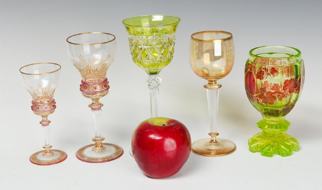A MIXED LOT OF ANTIQUE CONTINENTAL WINE GOBLETS - 3