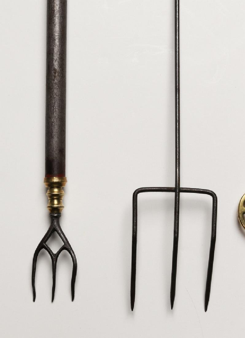 18TH AND 19TH CENTURY FIREPLACE TRAMMEL AND TOOLS - 2