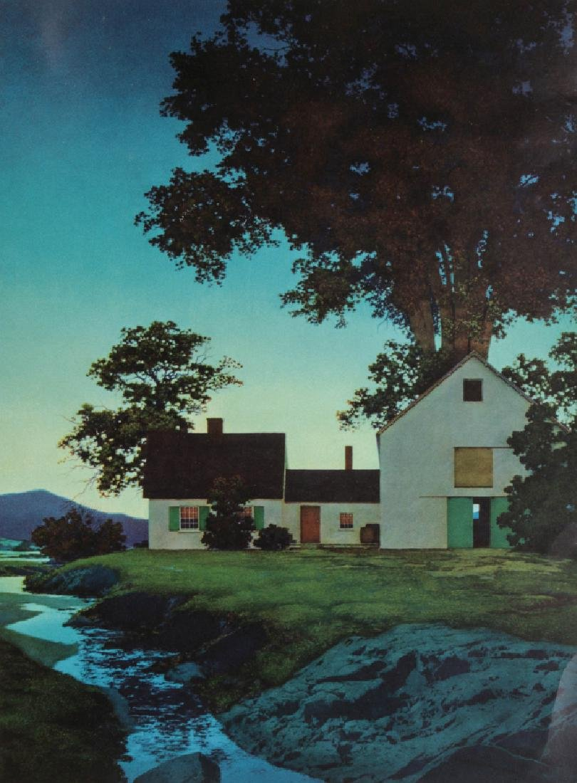 AFTER MAXFIELD PARRISH (1870-1966) COLOR LITHOGRAPH