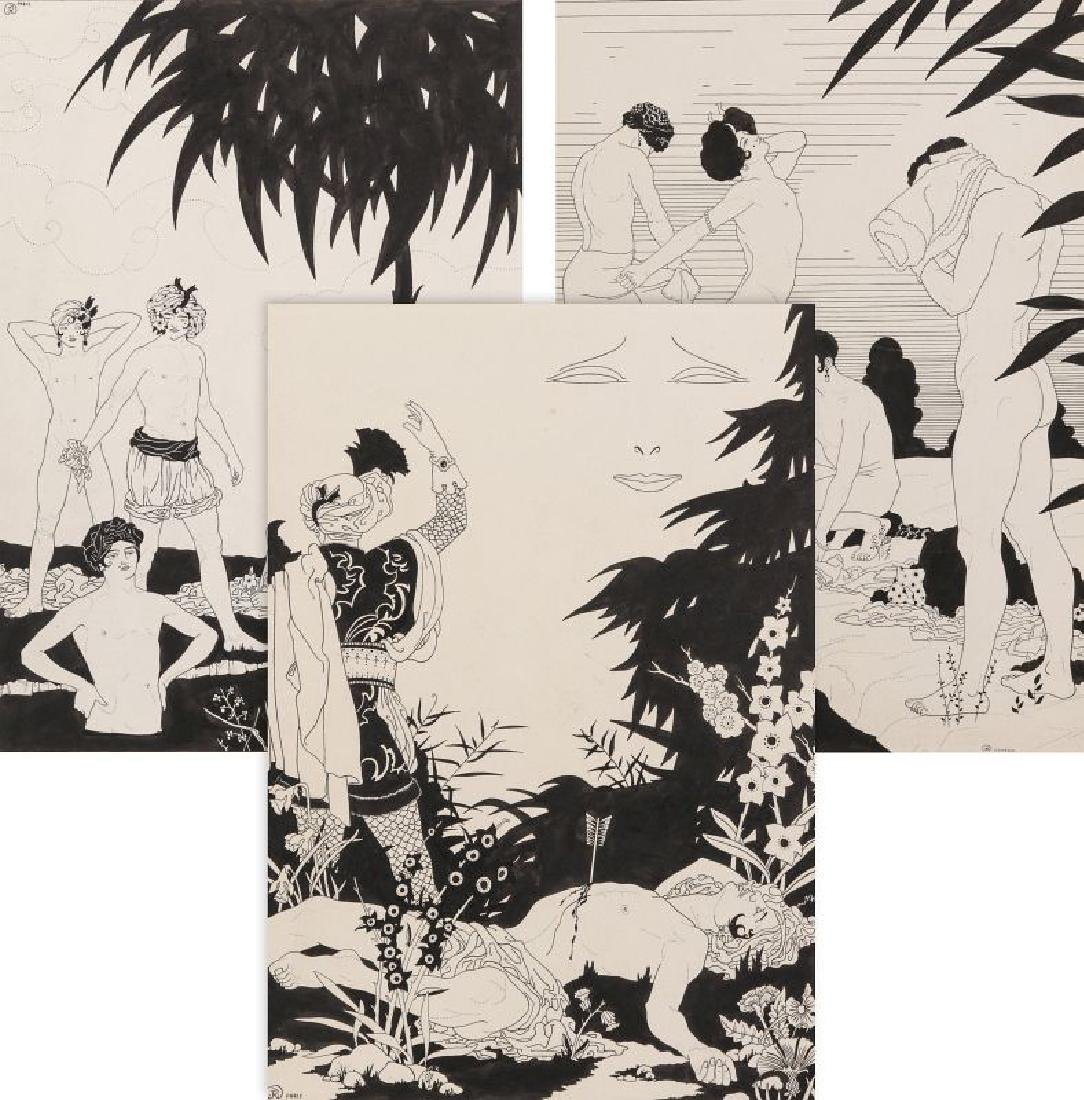 JOHN KETTELWELL ORIG ILLUSTRATIONS - THE KASIDAH