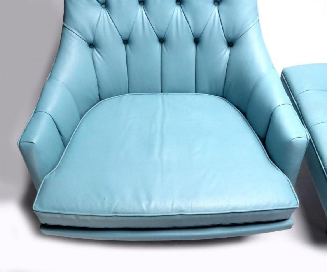 A MID 20TH CENTURY CHAIR AND OTTOMAN - 4